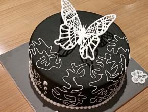 3D Schmetterling auf der Torte