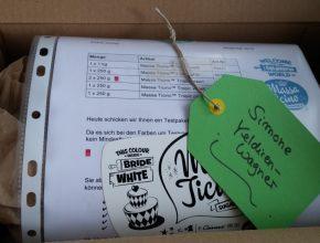 liebevoll verpacktes Testpaket