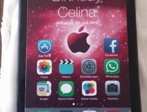 fertige IPhone6 Torte für Celina