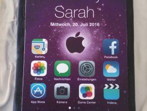 fertige IPhone Torte für Sarah