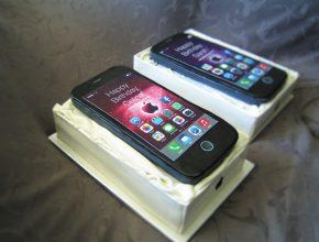 IPhone mit Prinzregententorte gefüllt
