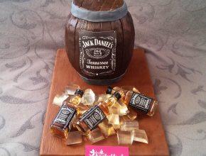 die fertige Jack Daniels Torte